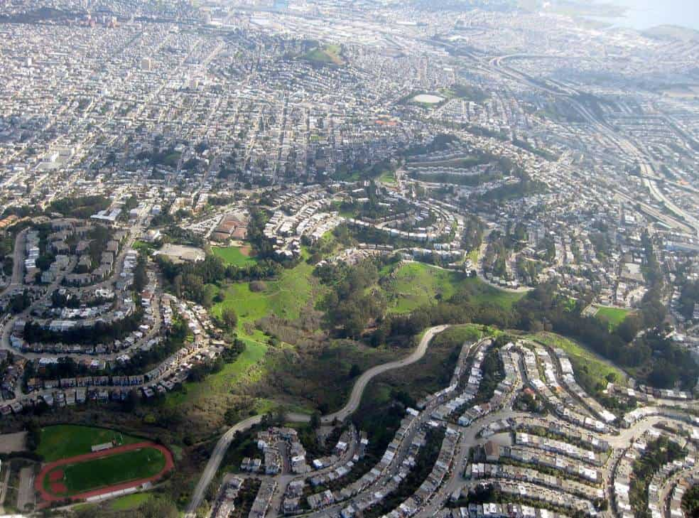 Glen Canyon Park aerial view