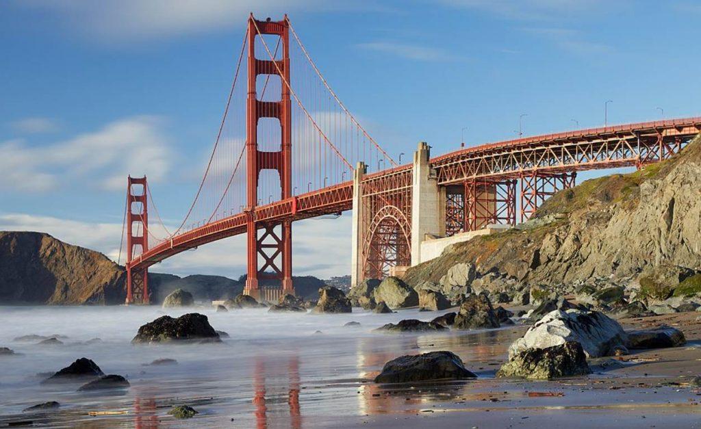 Golden Gate Bridge from Marshalls Beach