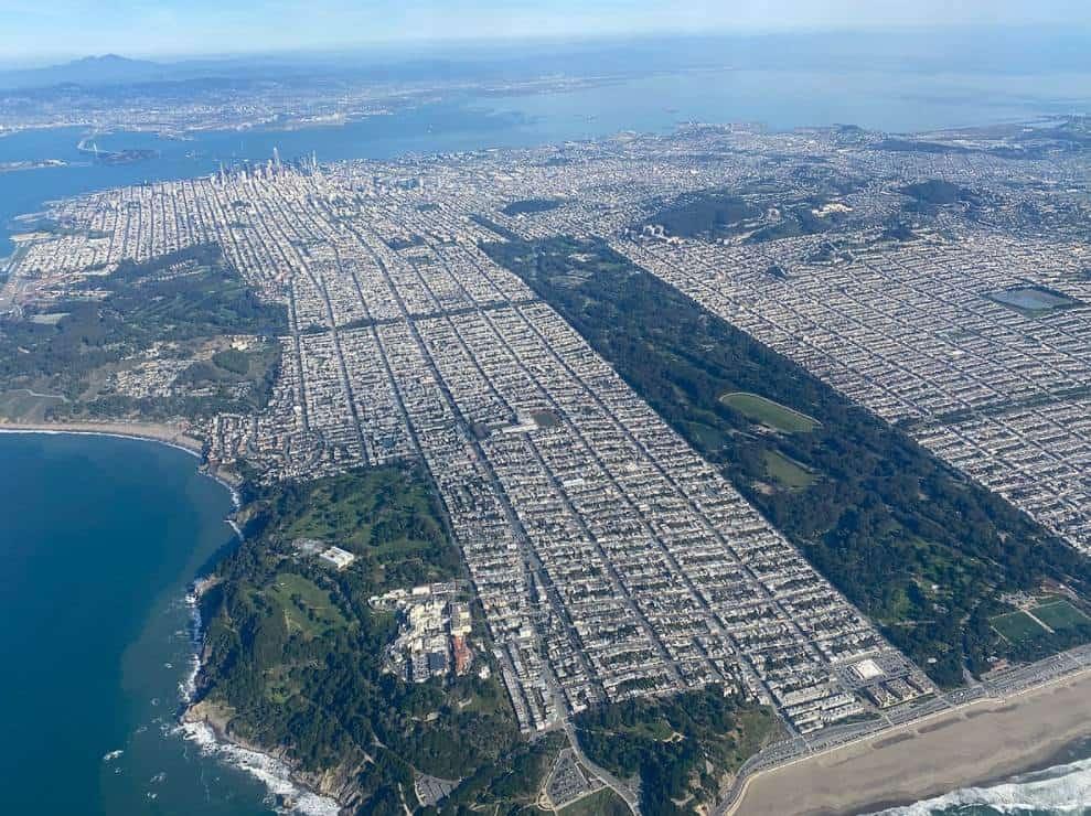 Golden Gate Park aerial view
